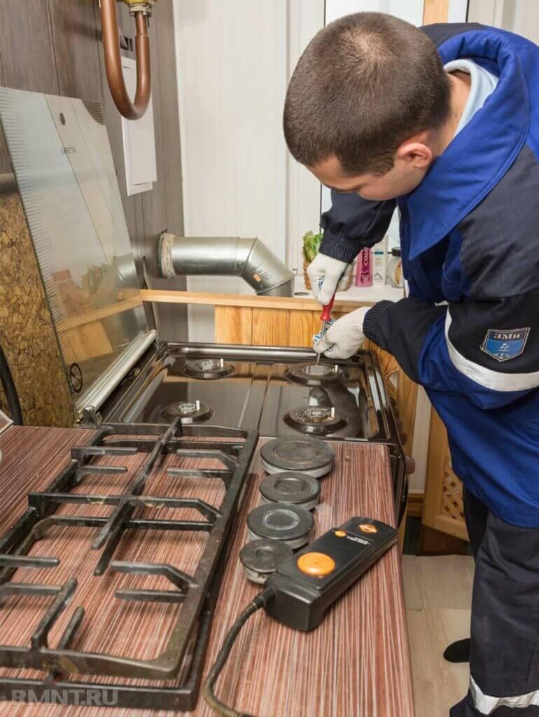 Диагностика газовой плиты